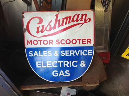 Picture of Metal Cushman Sign