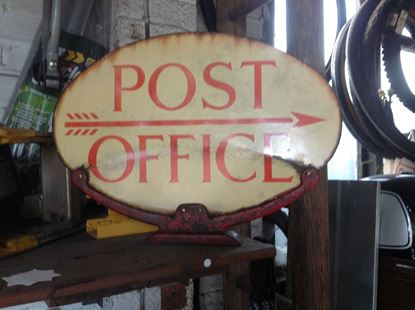 Picture of Metal Post Office Sign