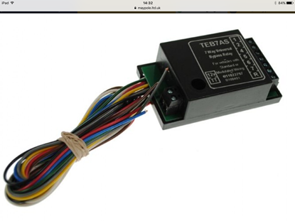 Picture of 12V 7 Way Bypass Relay