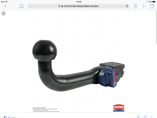 Picture of Horizontal Detachable Towbar