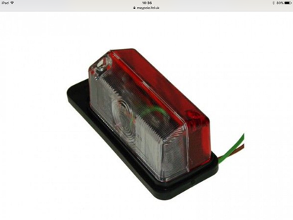 Picture of Radex Red/White Side Marker Lamp BK