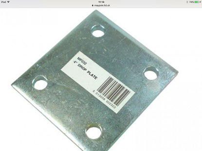 Picture of Zinc Plated 4inch Drop Plate