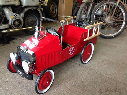 Picture of Vintage Childs Fire Engine Pedal Car
