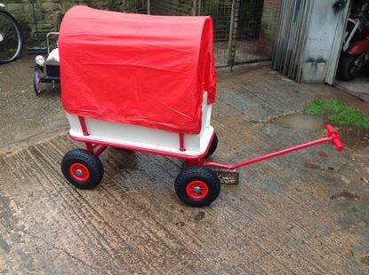 Picture of NEW!!! Wagon Hand Garden, Festival Trolley, Kids Transport Pull Along Wheelbarrow