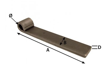 Picture of 153MM X 30MM X 13MM WELD-ON TRAILER HINGE
