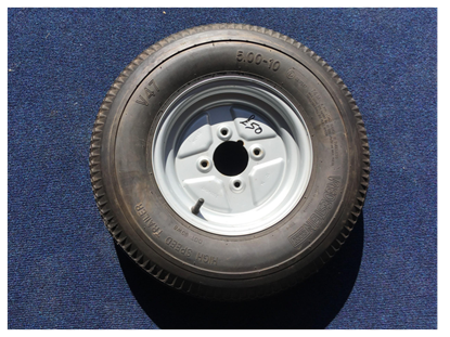 Picture of WHEEL+TYRE 4PLY 500X10