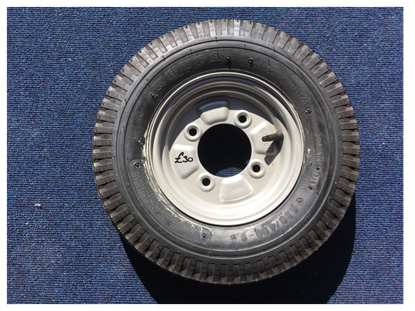"Picture of 400x8"" 4 ply wheel and tyre"