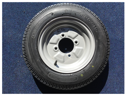 Picture of 4.00-10 wheel and tyre