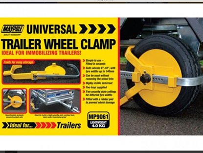 "Picture of 8""-10"" TRAILER WHEEL CLAMP"