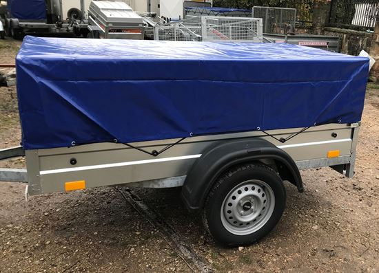 Picture of Niewiadow Car Trailer with Mesh Sides and Cover - please phone for availability